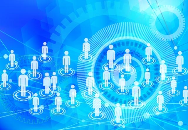 ネットワークが繋がっている人をイメージした画像