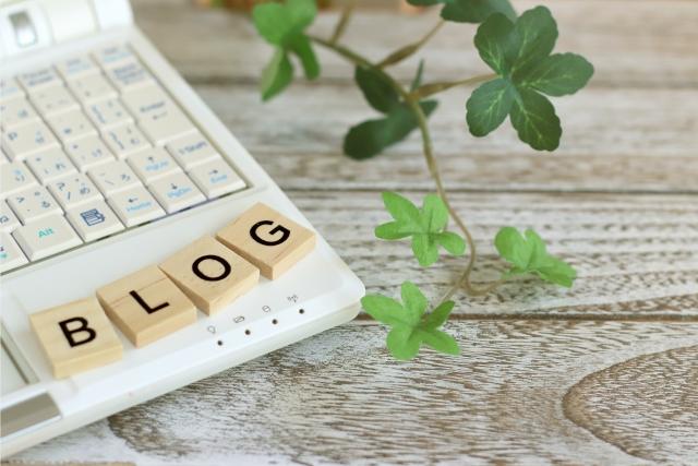 ブログとパソコンの画像