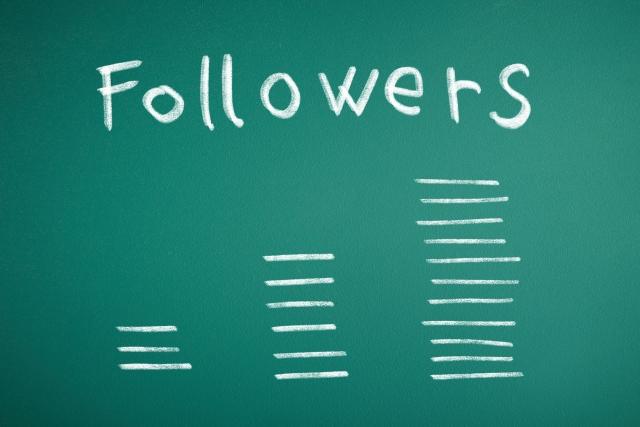 Followersと書かれた黒板の画像