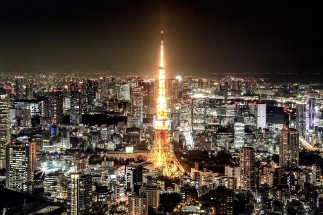 大都会の夜景の画像