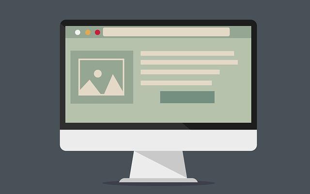 ブログ収益をアップしているデスクトップのパソコン画面のイラスト画像