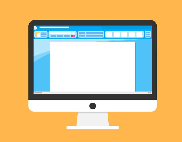 デスクトップ型のパソコンのイラスト画像