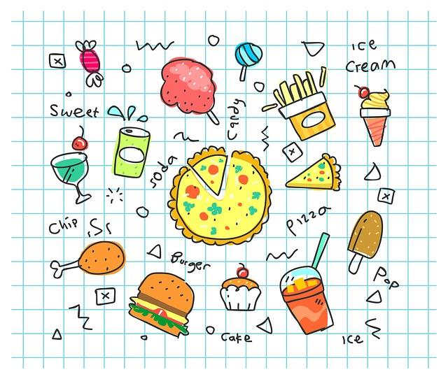 夜ごはんでよく食べるメニューのイラスト画像