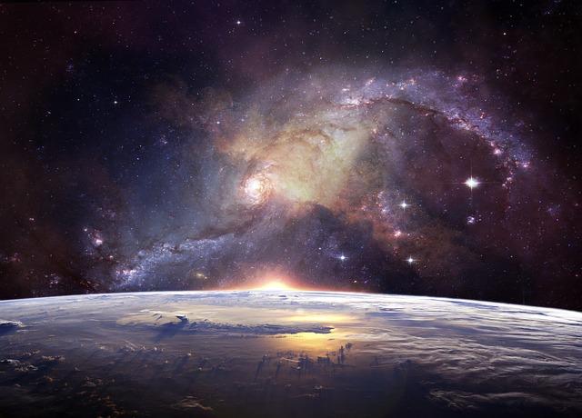 宇宙の神秘的な画像
