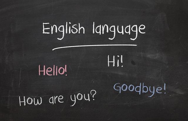 英語が書かれた黒板の画像