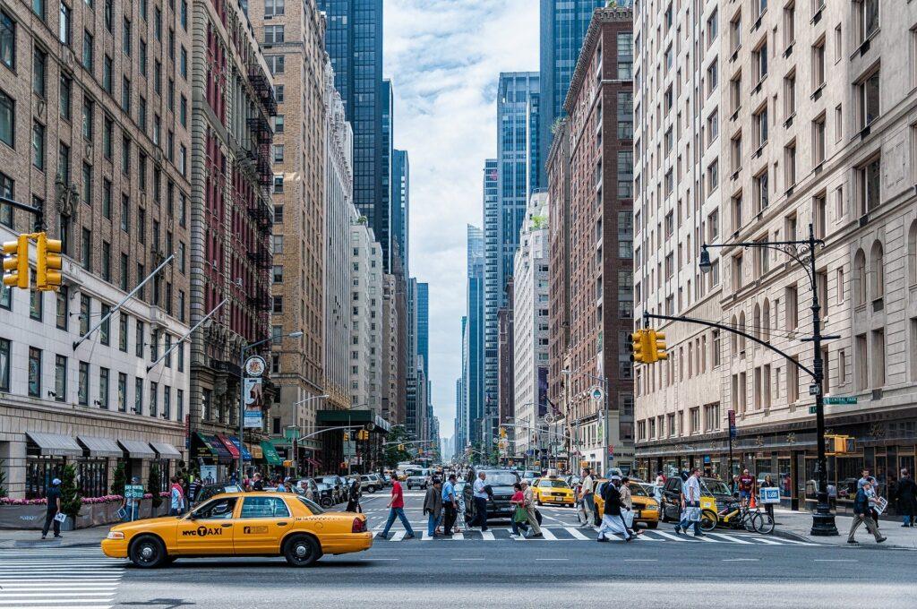 ニューヨークの街並みの画像